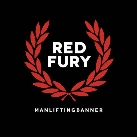 Man Lifting Banner-Red Fury - Skateboards Amsterdam - 1