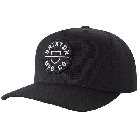 BRIXTON CREST C MP SNAPBACK BLACK