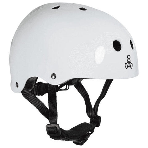 TRIPLE EIGHT LIL 8 DUAL CERTIFIED HELMET W/EPS LINER WHITE GLOSS