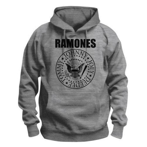 RAMONES PRESIDENTIAL SEAL HOODED SWEATER GREY - Skateboards Amsterdam - 1