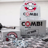 INDEPENDENT COMBI BOLTS 7/8 INCH SILVER - Skateboards Amsterdam - 3