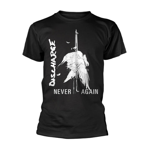 DISCHARGE NEVER AGAIN T-SHIRT