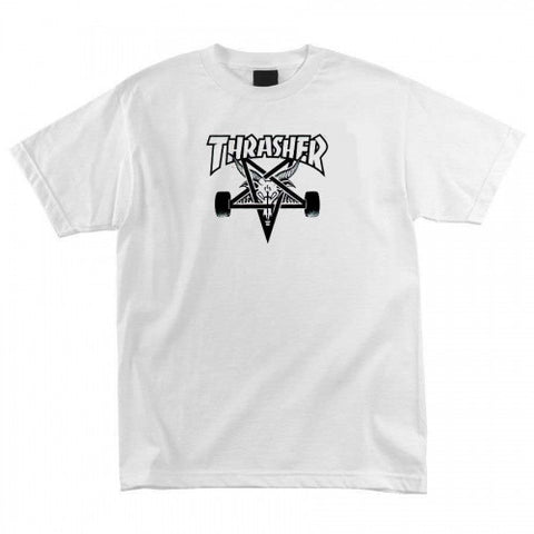 THRASHER SKATE GOAT T-SHIRT WHITE - Skateboards Amsterdam