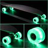 SUNSET LED CRUISER WHEELS 65MM GREEN INCL BEARINGS