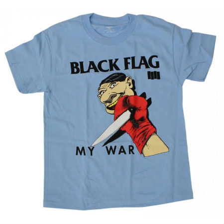 BLACK FLAG MY WAR T-SHIRT BLUE - Skateboards Amsterdam
