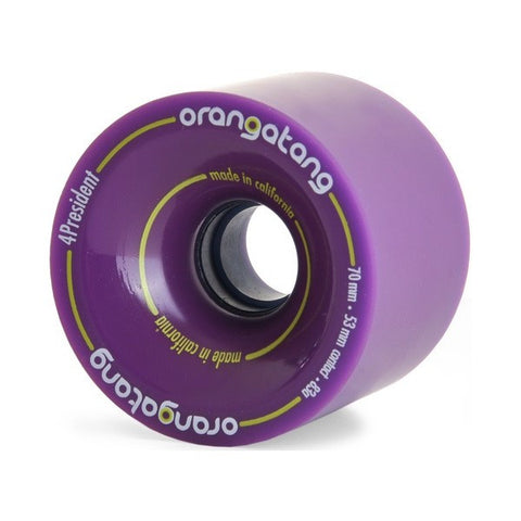 ORANGATANG 4PRESIDENT PURPLE 70MM - Skateboards Amsterdam