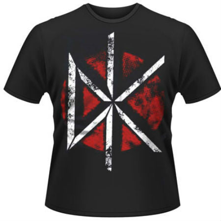 DEAD KENNEDYS DISTRESSED LOGO T-SHIRT COAL - Skateboards Amsterdam