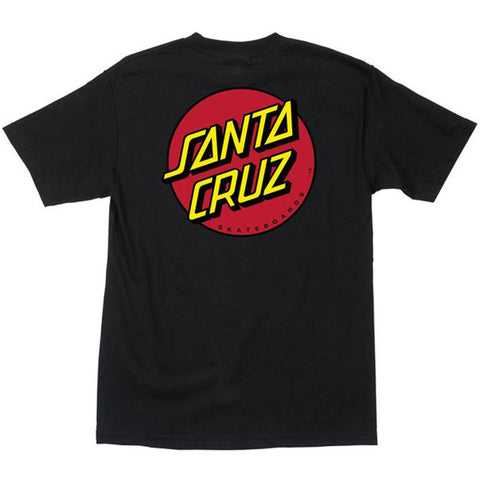 SANTA CRUZ CLASSIC DOT T-SHIRT BLACK