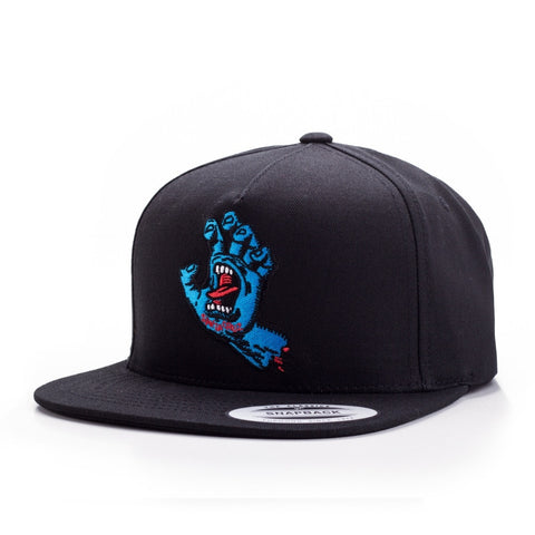 SANTA CRUZ SCREAMING HAND SNAPBACK BLACK