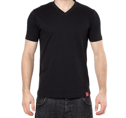 DICKIES V-NECK T-SHIRT BLACK - Skateboards Amsterdam
