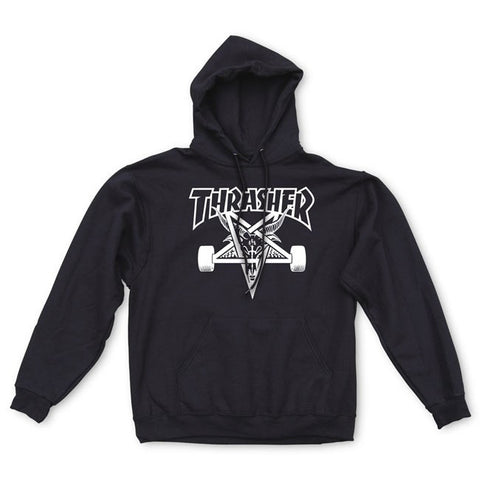 THRASHER SKATEGOAT HOODED SWEATER  BLACK - Skateboards Amsterdam - 1