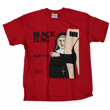 BLACK FLAG SLIP IT IN T-SHIRT RED - Skateboards Amsterdam