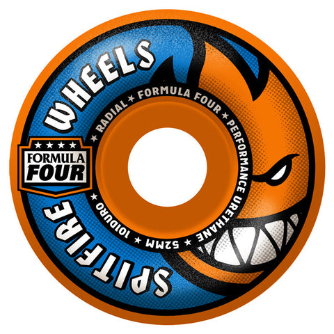 SPITFIRE FORMULA FOUR RADIAL ORANGE BLAST 101A 52MM