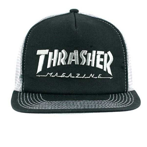THRASHER LOGO EMBROIDERED MESH CAP - Skateboards Amsterdam