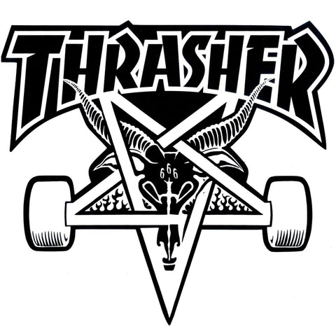 THRASHER SKATE GOAT STICKER LARGE - Skateboards Amsterdam