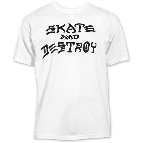 THRASHER SKATE AND DESTROY T-SHIRT WHITE - Skateboards Amsterdam