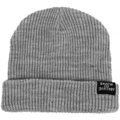 THRASHER SKATE AND DESTROY BEANIE GREY - Skateboards Amsterdam