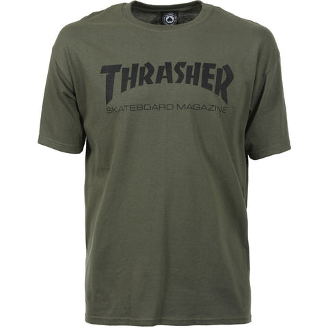 THRASHER SKATE MAG T-SHIRT ARMY - Skateboards Amsterdam