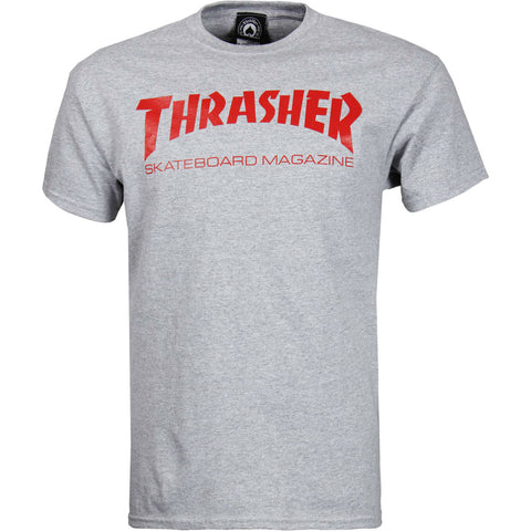 THRASHER SKATE MAG T-SHIRT GREY - Skateboards Amsterdam