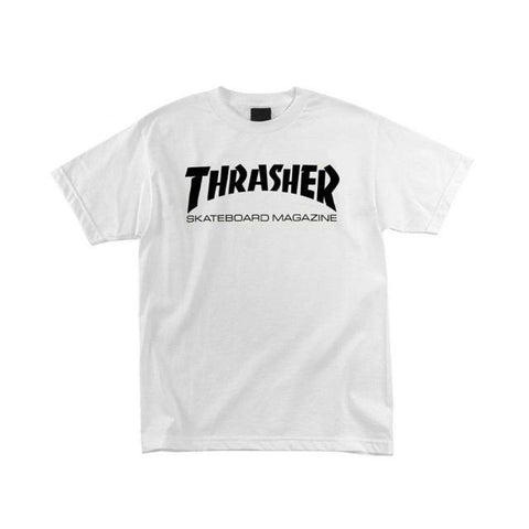 THRASHER SKATE MAG T-SHIRT WHITE - Skateboards Amsterdam