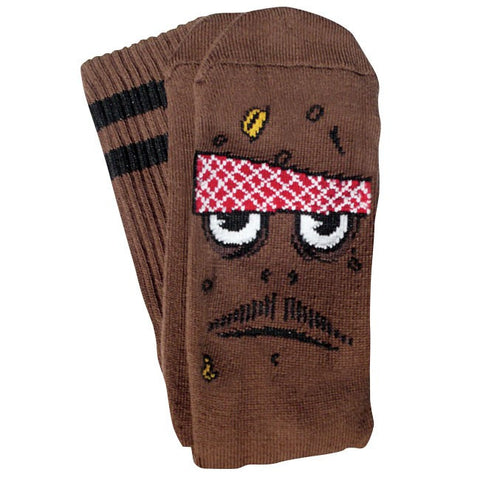 TOY MACHINE POO POO HEAD SOCK BROWN - Skateboards Amsterdam