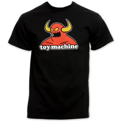 TOY MACHINE MONSTER T-SHIRT BLACK - Skateboards Amsterdam - 1