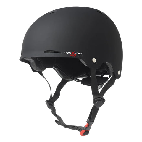 TRIPLE EIGHT GOTHAM DUAL CERTIFIED HELMET WITH EPS LINER BLACK MATTE