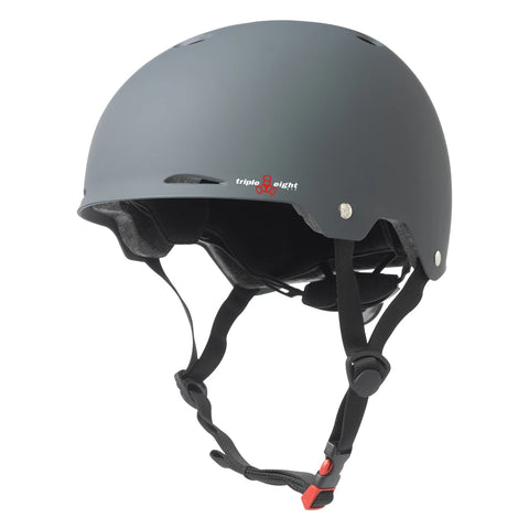 TRIPLE EIGHT GOTHAM DUAL CERTIFIED HELMET WITH EPS LINER GUNMETAL