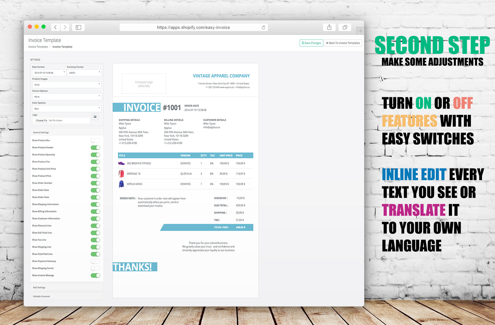 Invoices In Shopify The Definitive Guide Shopify You - Shopify invoice template