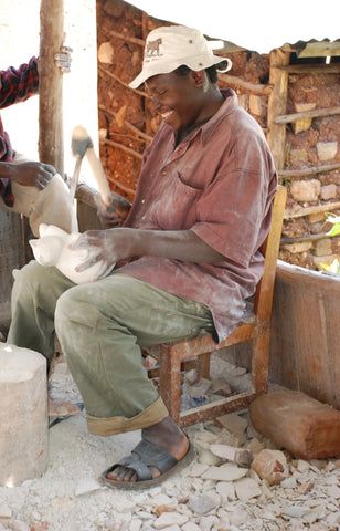 Ronald Nyabwari one of our carvers