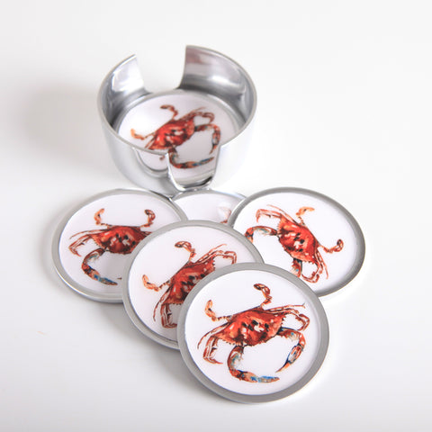 Crab Coaster Set of 6 (min 4)