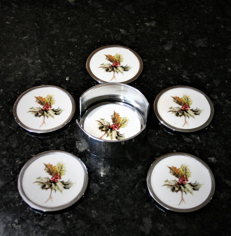 Holly Coasters Set of 6 (min 4)