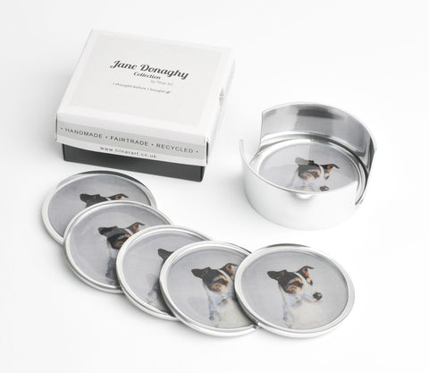 Jack Russell Coasters Set of 6 (Trade min 4 / Retail min 1)