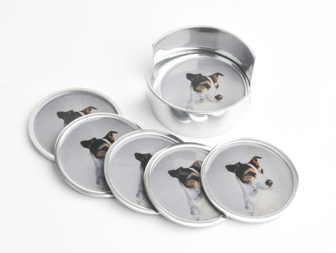 Jack Russell Coasters Set of 6 (trade min 4)