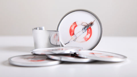 Life Buoy Coaster Set of 6 (trade min 4)