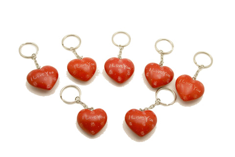 I Love You Heart Keyrings 3 cm (24 per display box - min 24)