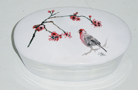 Japanese Blossom Trinket Box (trade min 4)