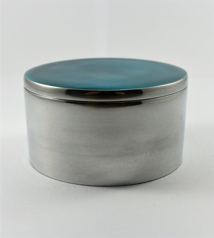 Aqua Circular Trinket Box (min 4) (New Product in Stock March 2019)