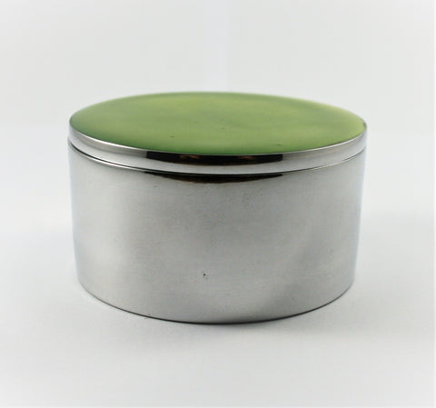Lime Circular Trinket Box (min 4) (New Product in Stock March 2019)