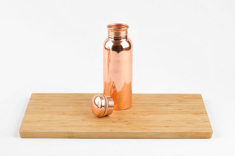 Polished Copper Water Bottle 750ml  (min 4) ***In Stock April 2020 - Pre-Order Now***