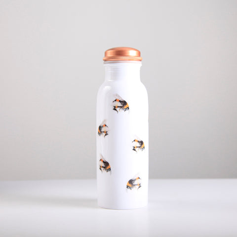 Bee Pattern Copper Water Bottle 750ml  (trade min 4)