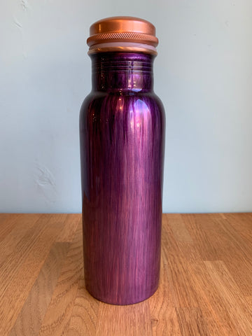 Brushed Purple Copper Water Bottle 750ml  (trade min 4)