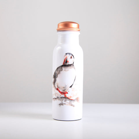 Puffin Copper Water Bottle 750ml  (trade min 4)