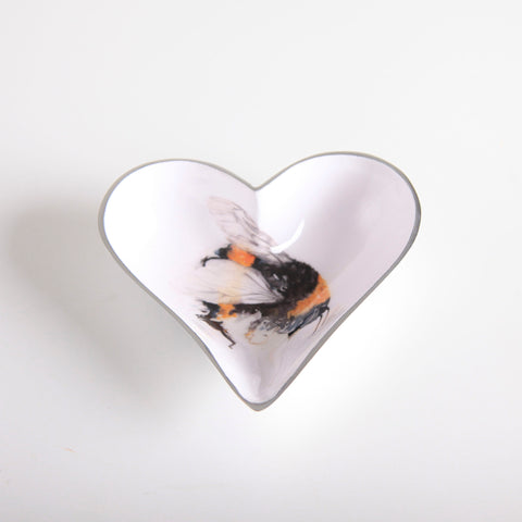 Bee Heart Dish Small (trade min 4)