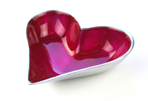 Pink Heart Dish Small (min 4)