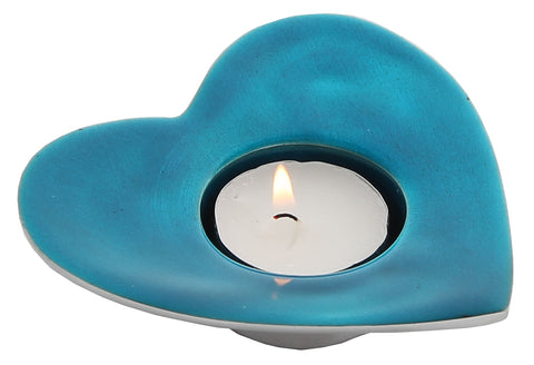 Aqua Heart T-Light Holder (min 4)