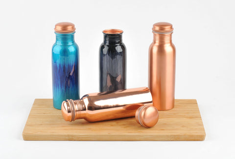 Brushed Black Copper Water Bottle 750ml  (trade min 4)