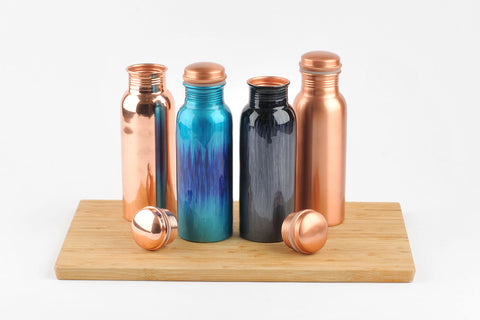 Polished Copper Water Bottle 750ml  (trade min 4)
