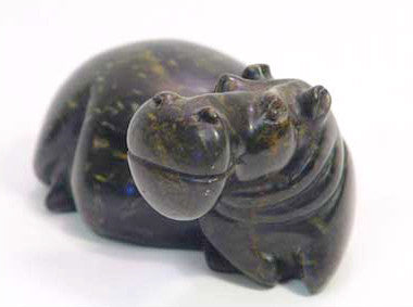 Abstract Soapstone Hippo 30 cm