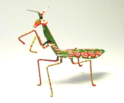 Hand Painted Tin Praying Mantis (min 4)